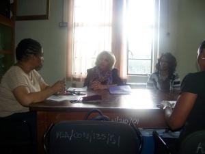 Dr. Pauline Weir, Dr. Cheryl Clark and Mrs. Georgia Lewis Scott