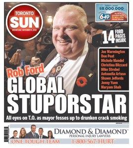 Toronto Sun cover